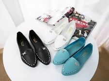 Casual Women's Pointy Toe Rhinestone Bow-Knot Loafers Slip On Flats Comfy Shoes