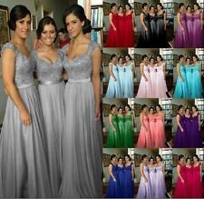 Long Chiffon Wedding Evening Formal Party Ball Gown Prom Bridesmaid Dresses 2-16
