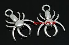 10/50/300pcs Tibetan Silver spider Jewelry Finding Charms Pendant 17x14mm