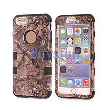 Camo Tree Hybrid Rugged Green Rubber Hard Case Cover For iPhone 6 6G 6 Plus