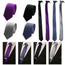 Mens Skinny Tie Wedding Thin Narrow Slim Formal Casual Necktie NEW