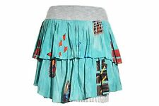Feral Childe Modern Myth 100% Silk Accordion Pleated Skirt L Tiered Layered USA