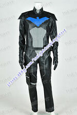 Young Justice Cosplay Nightwing Costume Black Jumpsuit Whole Set Halloween Party