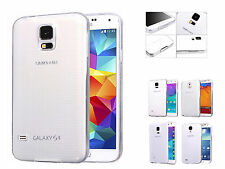 Transparent Crystal Clear TPU Back Case Cover For Samsung Galaxy S4 S5 Note 3 4