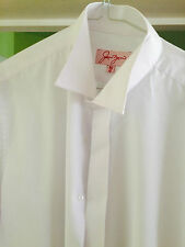 Mens white dress / Edwardian wing collar shirt excellent condition perfect
