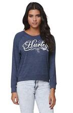 Hurley Freedom Bruna Long Sleeve Tee Shirt Womens Navy Heather Shirt New NWT