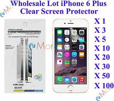 For iPhone 6 Plus/6s Plus Screen Protector Clear Wholesale Lot Retail Packaging