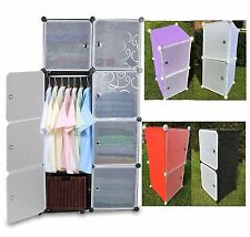 plastic storage cabinet clothes wardrobe cupboard organiser bedroom bathroom DIY