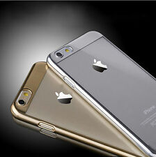 New Fashion Ultra thin Metal Electroplate Clear Back Case for iPhone 6/ 6 Plus