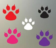 "(4) 3"" CAT paw print vinyl Decal sticker cougar tiger feline glass plastic S824"