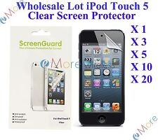 For iPod Touch 5 Screen Protector Clear Wholesale Lot Retail Packaging 3X 10X 20