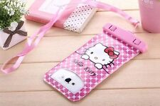 Hello Kitty Waterproof Underwater Dry Pouch Bag Case Cover For All Cell Phone