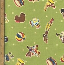 Tiny Tots Toys Children Nursery Crafting Quilting Cotton Fabric YOUR LENGTH