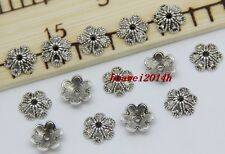 50/300pcs Tibetan Silver Flower Bead Caps Jewelry Charms Beads Cap DIY 9x3mm