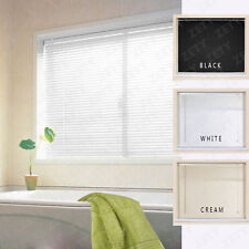 PVC Venetian Window Blinds Easy Fit Multiple Sizes White Black Cream 3 Colours