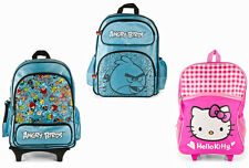 Kids Rolling Backpack Angry Birds Hello Kitty School Toys Boy Girl Children Bag