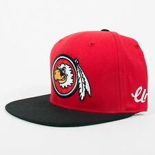 UNDEFEATED FEATHER STARTER SNAPBACK CAP RED ADJUSTABLE UNDFTD