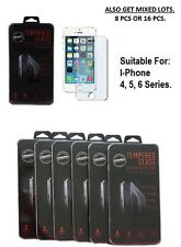 IPHONE 4, 5, 6 PREMIUM TEMPERED GLASS SCREEN PROTECTOR. QTY LOT . USA SELLER
