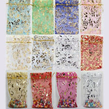 Lots 25/50/100 Pcs Organza Packing Pouch Wedding Favors Gift Bags 9x7/12x9cm