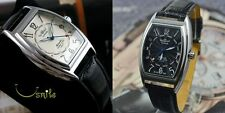 WINNER Automatic Stainless Steel Skeleton Leather Strap Watch New