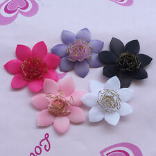 Upick 40/200PCS Mix Organza Ribbon Rose Flowers Bows Padded Felt Appliques