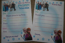 20 Frozen Party Invitations/Invites & Thank You Notes