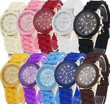Colorful Womens Girls Geneva Silicone Jelly Gel Quartz Analog Sports Wrist Watch