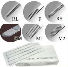5/10/20/ 50pcs Tattoo Disposable Needles 7RS 7M1 9F 9M1 9M2 9RL 9RM 9RS 5f //ch