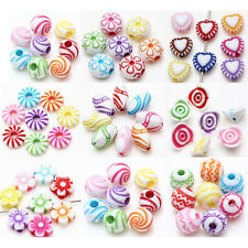 Lots Mixed Acrylic Loose Spacer Charms  Beads Bracelet Jewelry Finding 9 Style