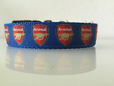 "Arsenal FC Soccer Premier League Futbol Dog Buckle Collar or Leash 1"" width"