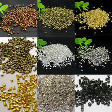 Lots 1000Pcs Silver/Golden Plated Tube Bead Crimp End Spacer Bead Findings 2.0MM