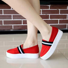 New Fashion Women Canvas Platform Shoes Casual Sneakers Round Toe Heels Shoes