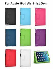 "PU Folio Leather Case Cover Stand 9.7 "" Apple iPad Air 1 1st Gen"