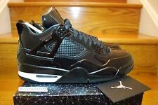 Nike Air Jordan Retro IV 4 11Lab4 BLACK Patent Leather 719864-010 MEN SZ: 8-14