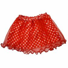 Minnie Mouse Red White Polka Dot Spot Tutu Skirt Fancy Dress Ages 5-16 Years