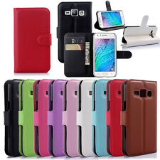 For Samsung Galaxy J1 SM-J100 Card Wallet Book Leather Flip Case Stand Cover