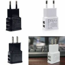 2A Dual 2Ports USB EU Wall Charger Adapter for Samsung SMARTPHONE TABLETS