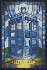 Counted cross stitch pattern or kit stained glass tardis, tardis, dr who