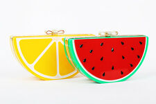 Fashion Fruit Shaped Clutch Evening Bag Tote Shoulder Chain Bags Handbag Purse