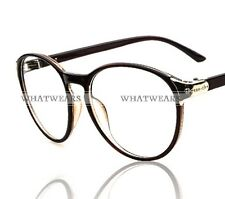 Fashion Retro Round Frame Vintage Unisex Men Women Eyeglasses Glasses WUS