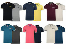 New Mens Brave Soul Crosshatch Tip Pique Polo Shirt  Pack 2 XS-XL