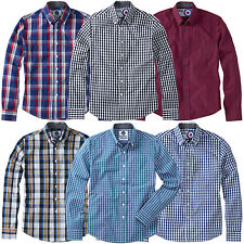 Charles Wilson Men's Cotton Gingham Check Long Sleeve Casual Shirt Top New SS15