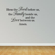 Bless the Food Before Us Family Wall Decals Dining Room Wall Decals Kitchen