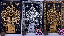 Indian Tree Of Life Psychedelic Wall Hanging Elephant Tapestry Throw Drom Decor