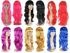 WOMENS LADIES COSPLAY COSTUME FULL LONG WAVY CURLY FANCY Wig PARTY DRESS WIGS