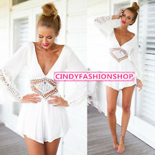 Sexy Womens Clubwear Chiffon Playsuit Bodycon Party Jumpsuit&Romper Trousers