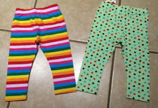 NWT Toddler Girls Polka Dot or Rainbow Striped Capri Style Leggings Size 2/3-6/7