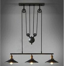 Retro Nostalgia Lifting Tackle 3 Adjustable Chandelier Creative Styles Available