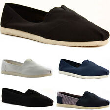 WOMENS LADIES FLAT CASUAL PLIMSOLLS ESPADRILLES CANVAS SHOES PUMPS TRAINERS SIZE