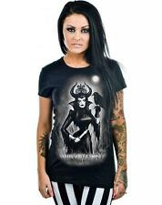 Women's Too Fast Night Queen Babydoll T-Shirt Maleficent Raven Goth